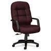 HON2091NT69T 2090 Pillow-Soft Executive High-Back Swivel/Tilt Chair, Wine Fabric/Black Base HON 2091NT69T