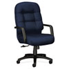 HON2091NT90T 2090 Pillow-Soft Executive High-Back Swivel/Tilt Chair, Mariner, Black Base HON 2091NT90T