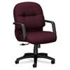 HON2092NT69T 2090 Pillow-Soft Managerial Mid-Back Swivel/Tilt Chair, Wine Fabric/Black Base HON 2092NT69T