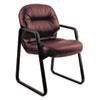 HON2093SR69T Leather 2090 Pillow-Soft Series Guest Arm Chair, Burgundy HON 2093SR69T