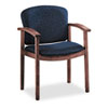 HON2111NAB90 2111 Invitation Series Wood Guest Chair, Mahogany/Solid Blue Fabric HON 2111NAB90
