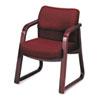HON2903NAB62 2900 Series Guest Arm Chair, Burgundy Fabric/Mahogany Finish Wood HON 2903NAB62