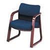 HON2903NAB90 2900 Series Guest Arm Chair, Blue Fabric/Mahogany Finish Wood HON 2903NAB90