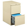 HON33823RL Efficiencies Mobile Pedestal File w/Two File Drawers, 22-7/8d, Putty HON 33823RL