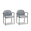 HON4051AB12T Multipurpose Stacking Arm Chairs, Gray, 2/Carton HON 4051AB12T