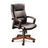 HON5001JEE11 5000 Series Executive High-Back Swivel/Tilt Chair, Black Vinyl/Henna Cherry HON 5001JEE11