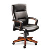 HON5001JSS11 5000 Series Executive High-Back Swivel/Tilt Chair, Black Leather/Henna Cherry HON 5001JSS11