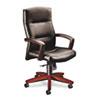 HON5001NEE11 5000 Series Executive High-Back Swivel/Tilt Chair, Black Vinyl/Mahogany HON 5001NEE11