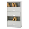 HON Brigade 600 Series Five-Shelf File with Receding Doors