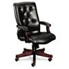 HON6541NEJ10 6540 Series Executive High-Back Swivel Chair, Mahogany/Black Vinyl Upholstery HON 6541NEJ10
