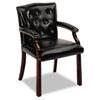 HON6545NEJ10 6540 Series Guest Arm Chair, Mahogany/Black Vinyl Upholstery HON 6545NEJ10
