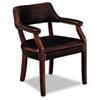 HON6551NEJ65 6550 Series Guest Arm Chair, Mahogany/Oxblood Vinyl Upholstery HON 6551NEJ65