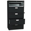 HON685LP 600 Series Five-Drawer Lateral File, 36w x19-1/4d, Black HON 685LP