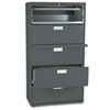 HON685LS 600 Series Five-Drawer Lateral File, 36w x19-1/4d, Charcoal HON 685LS