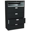 HON695LP 600 Series Five-Drawer Lateral File, 42w x19-1/4d, Black HON 695LP