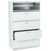 HON695LQ 600 Series Five-Drawer Lateral File, 42w x19-1/4d, Light Gray HON 695LQ