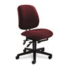 Swivel task chair has Olefin upholstered steel frame, five-star base with casters and asynchronous control.