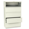 HON795LL 700 Series Five-Drawer Lateral File w/Roll-Out & Posting Shelves, 42w, Putty HON 795LL