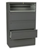 HON795LS 700 Series Five-Drawer Lateral File w/Roll-Out & Posting Shelves, 42w, Charcoal HON 795LS