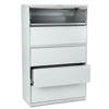 HON895LQ 801 Series Five-Drawer Lateral File, Roll-Out/Posting Shelves, 42w x 67h, Lt Gra HON 895LQ