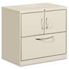 HONFC1830DLFALQ Flagship File Center w/Storage Cabinet & Lateral File, 30w x 18d x 28h, Gray HON FC1830DLFALQ