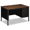 HONP3251RZP Metro Classic Right Pedestal Desk, 48w x 30d x 29-1/2h, Columbian Walnut/Black HON P3251RZP