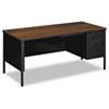 HONP3265RZP Metro Classic Right Pedestal Desk, 66w x 30d, Columbian Walnut/Black HON P3265RZP