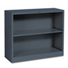HONS30ABCS Metal Bookcase, 2 Shelves, 34-1/2w x 12-5/8d x 29h, Charcoal HON S30ABCS