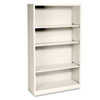 HONS60ABCL Metal Bookcase, 4 Shelves, 34-1/2w x 12-5/8d x 59h, Putty HON S60ABCL