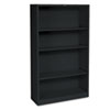 HONS60ABCP Metal Bookcase, 4 Shelves, 34-1/2w x 12-5/8d x 59h, Black HON S60ABCP
