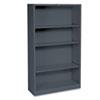 HONS60ABCS Metal Bookcase, 4 Shelves, 34-1/2w x 12-5/8d x 59h, Charcoal HON S60ABCS