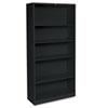 HONS72ABCP Metal Bookcase, 5 Shelves, 34-1/2w x 12-5/8w x 71h, Black HON S72ABCP