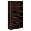HONVW612XFF Arrive Wood Veneer Five-Shelf Bookcase, 36w x 15d x 71-1/2h, Shaker Cherry HON VW612XFF