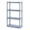 ICE20842 Rough N Ready 4 Shelf Open Storage System, Resin, 32w x 13d x 54h, Charcoal ICE 20842