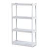 ICE20843 Rough N Ready 4 Shelf Open Storage System, Resin, 32w x 13d x 54h, Platinum ICE 20843