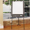 ICE30227 Portable Flipchart Easel w/Dry Erase Surface, Resin, 35w x 30d x 73h, Charcoal ICE 30227
