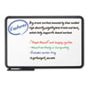 ICE37061 Ingenuity Dry Erase Board, Resin Frame with Tray, 66 x 42, Black ICE 37061