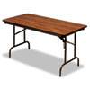ICE55225 Premium Wood Laminate Folding Table, Rectangular, 72w x 30d x 29h, Oak ICE 55225