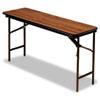 ICE55275 Premium Wood Laminate Folding Table, Rectangular, 60w x 18d x 29h, Oak ICE 55275