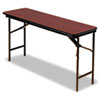 ICE55284 Premium Wood Laminate Folding Table, Rectangular, 72w x 18d x 29h, Mahogany ICE 55284