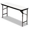 ICE55287 Premium Wood Laminate Folding Table, Rectangular, 72w x 18d x 29h, Gray ICE 55287