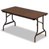 ICE55314 Economy Wood Laminate Folding Table, Rectangular, 60w x 30d, Walnut ICE 55314