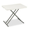 ICE65490 IndestrucTable TOO 1200 Series Resin Personal Folding Table, 30w x 20d, Platinum ICE 65490