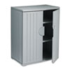 ICE92562 OfficeWorks Resin Storage Cabinet, 36w x 22d x 46h, Charcoal ICE 92562