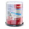 IMN17276 CD-R Discs, 700MB/80min, 52x, Spindle, Silver, 100/Pack IMN 17276