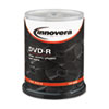 IVR46890 DVD-R Discs, 4.7GB, 16x, Spindle, Silver, 100/Pack IVR 46890