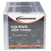 Innovera CD/DVD Polystyrene Slim Storage Case