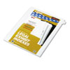 Kleer-Fax 80000 Series Alpha Side Tab Legal Index Divider