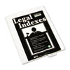 Kleer-Fax 80000 Series Exhibit Alpha Bottom Tab Legal Index Divider