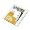 KLF81196 80000 Series Legal Index Divider Set, Side Tabs, Printed